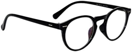 Peter Jones Full Rim Round Unisex Spectacle Frame(Db3|48|Black)
