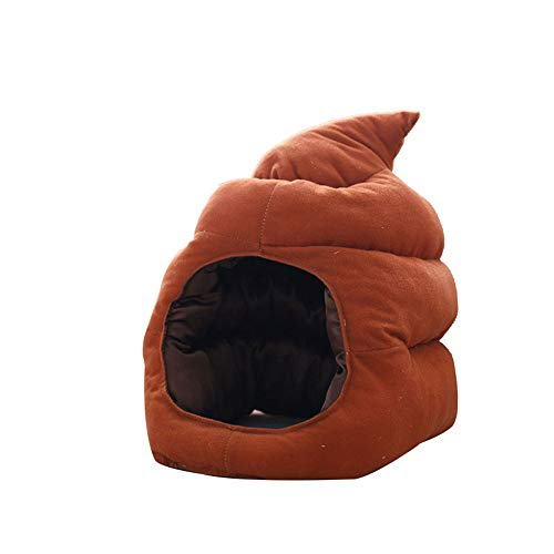 GAOXUQIANG Poop Hut lustige Kopf tragen braun niedlich Festival Party Halloween Verkleidung Wintermütze Office Street Outfit Kigu Kopfschmuck Frauen Männer,Brown,M