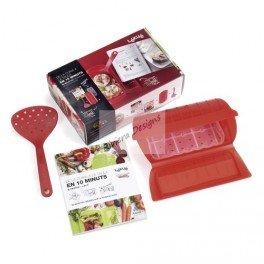 Lékué 3404503R10M550 – Kit de accesorios para papillote (silicona, 28 x 18 x 8,5 cm), color rojo [Importado]