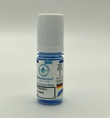 Propylenglycol (PG) e-Liquid Basis 10ml TPD2 Nikotinstärke 20 mg/ml Nikotin von Sasami (DE)