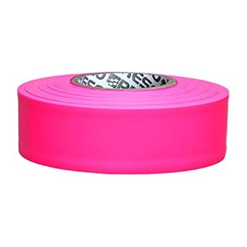 Neon Lime 1-3//16 in x 50 yds. Presco PresGlo Taffeta Roll Flagging Tape