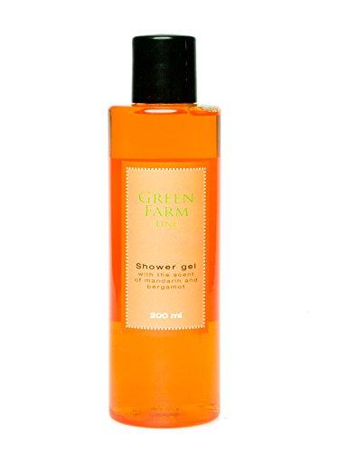 """Soap-schaumbad Shampoo (Aromatisches Duschgel mit Mandarine und Bergamotte (200 ml) - """"Green Farm"""" - 2 Stk. Sparpaket! Sehr effizient!)"""