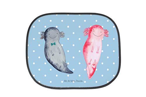 Mr. & Mrs. Panda PKW, Auto, Auto Sonnenschutz Axolotl Axel+Lotte - Farbe Blau Pastell