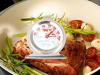 Rosenstein & Söhne 2in1 XL Braten- und Ofen-Thermometer für Gar- & Backofentemperatur - 6