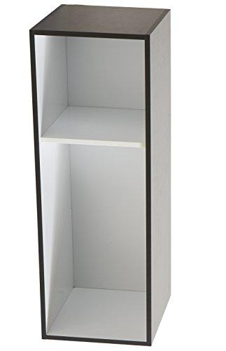 Stapelbar REGAL 411 schwarz weiß Bücherregal Büroregal Standregal CD DVD Tisch