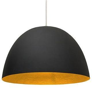In-es.artdesign IN-ES050N-A H2O Pendant Lamp, Black/Orange