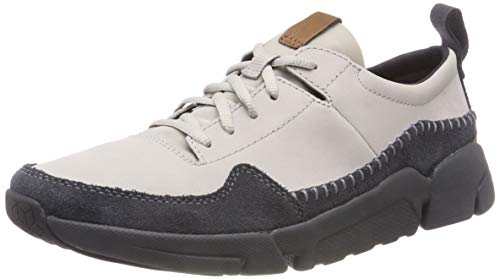 Clarks Herren Tri Active Run Sneaker, Grau (Light Grey), 44.5 EU