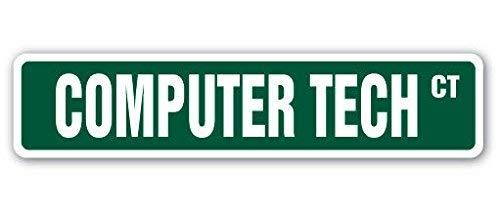 Computer Tech Street Sign Geek Repair Fix Apple PC Aufkleber für Innen- und Außenbereich, 20,3 cm breit -