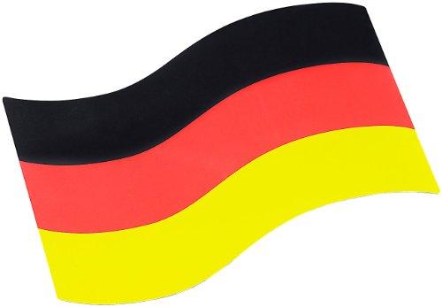 PEARL Deutschlandfahne: Auto-Magnet-Fahne Deutschland (Deutschland Fan Artikel)