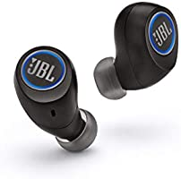 JBL Free X in-ear Bluetooth koptelefoon draadloze koptelefoon met slim laadstation muziek streamen tot 24 uur, zwart