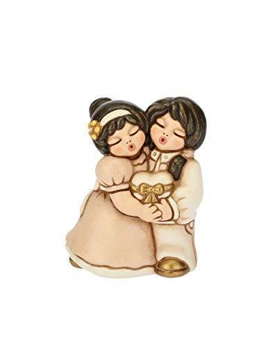 Thun® - coppia di spose con cuore- regalo o bomboniere di matrimonio - ceramica - sposi lei+lei