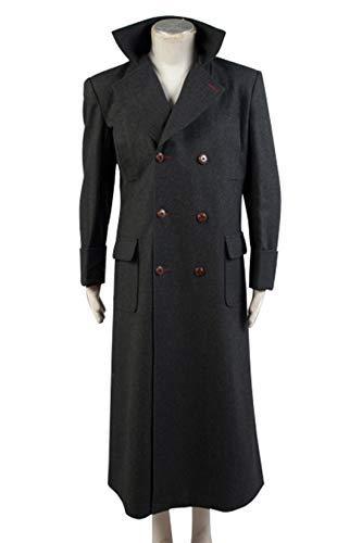 Tianxinshop Holmes Schwarz Wolle Blend Trench Lange Jacke Cosplay Kostüm für - Benedict Cumberbatch Sherlock Kostüm