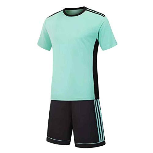 Yefree Herren Fußball Fußball Sport Schiedsrichter Wettbewerb Trainingsanzug Hemd Uniform Jersey Kostüm Kurze Ärmel und für Sport (Schiedsrichter Kostüm Junge)