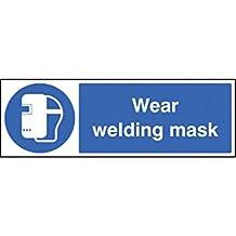 Caledonia signos 25021M desgaste máscara de soldadura señal, vinilo autoadhesivo, 600mm x 200mm