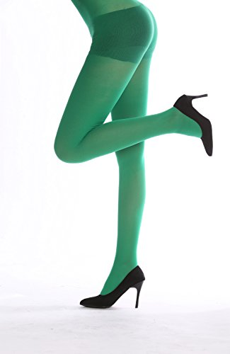 DRESS ME UP - WZ-012DG Strumpfhose Pantyhose Damenkostüm Party Karneval Halloween dunkelgrün grün S/M (Halloween-kostüme Poison Ivy)