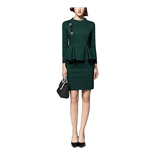 Robe de solde en couleur unie robe de soirée de tempérament robe de hanche - vert green