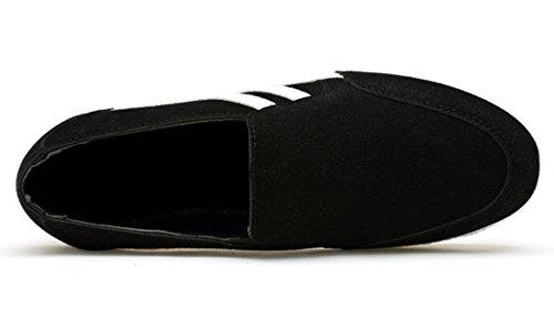 TDA ,  Damen Durchgängies Plateau Sandalen mit Keilabsatz Schwarz