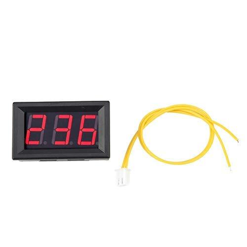 DealMux Voltmetro digitale a LED AC 70-380V Volt Misuratore di batteria Tester Monitor di tensione per auto/auto Golf Cart Moto 0,56'(rosso)