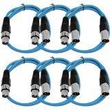 Seismic audiosaxlx-2blue6blau Empfangsbereich Stück XLR Male zu XLR Female Patch Kabel, symmetrisch Female Insert-kabel