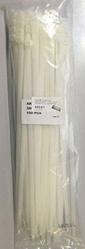 Kab24® Industrie Kabelbinder 100er Pack Polyamid UL Zulassung halogenfrei 370mm x 7,6mm naturfarben