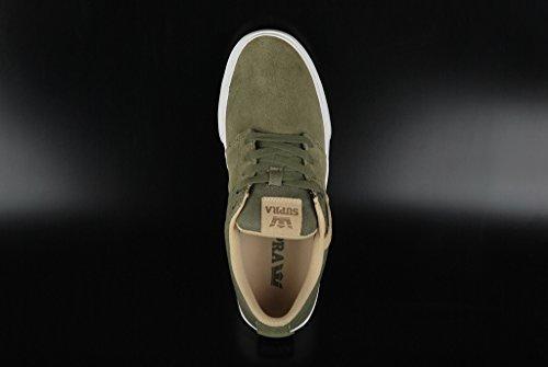 Supra - Stacks Vulc Ii, Pantofole Uomo Olive White