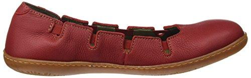 El Naturalista N5272 Soft Grain Viajero, Chaussures avec Plateforme Femme Rouge (Tibet)