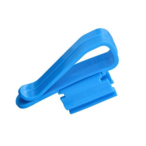 Preisvergleich Produktbild Lorsoul 2ST Wasserrohr Rohrklemme Multifunktions-Kunststoff Einstellbare Fisch-Behälter-Befestigungsclip Schlauchhalter