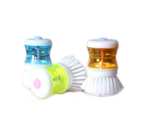 AMOYER 3 PCS Küche Waschwerkzeug Pot Dish Bowl Palm Pinsel Scrubber Reinigung Reiniger Gadget, Good Grips Soap Dispensing Palm Pinsel -