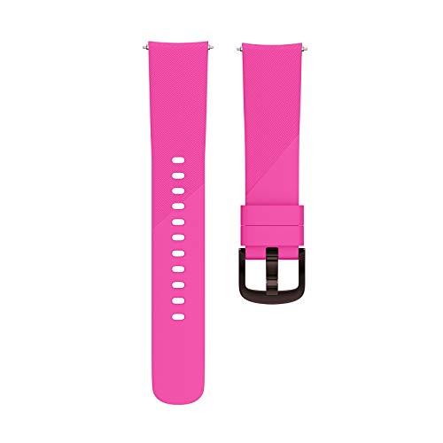 Takkar 20mm Sport Silikon Uhrenarmband - sicher für die menschliche Haut- Wasserdicht atmungsaktiv - die richtige Wahl für den Sport- kompatibel für Samsung Gear Sport,Samsung Galaxy Watch (Hot Pink)