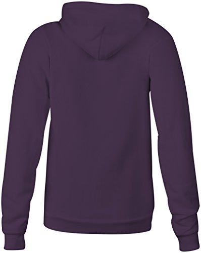 I Am Purrrfect �?Hoodie Kapuzen-Pullover Frauen-Damen �?hochwertig bedruckt mit lustigem Spruch �?Die perfekte Geschenk-Idee (08) lila