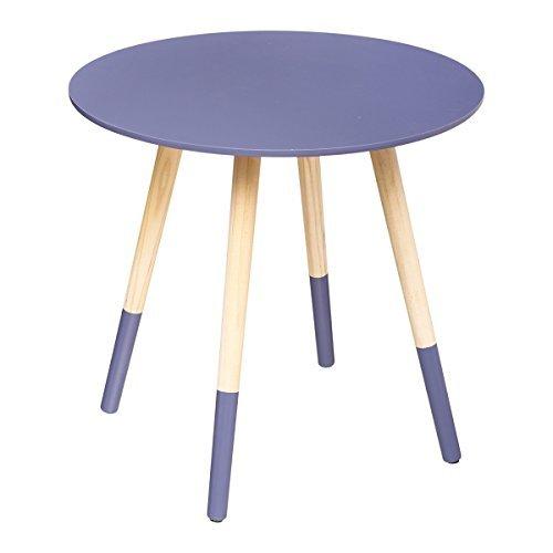Table basse ronde Mileo violet