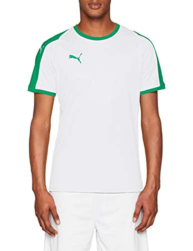 Puma Herren Liga Jersey T-Shirt, White/Pepper Green, L -