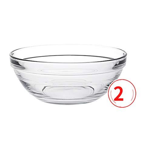 HHXWU Vaisselle Bol de Riz Bol de Soupe à Salade Bol à Dessert Bol à Ramen Bol Transparent 2, 2025A
