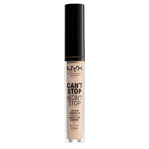 Nyx professional make up can't stop won't stop correttore viso liquido, adatto a tutti gli incarnati, alabastro