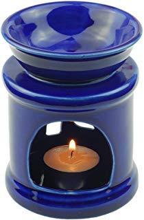 Tom Barrington Aromatherapie Öl-Wärmer ätherische Öle Porzellan Dekoration zylindrische Form Baum der Aufklärung Königsblau - Porzellan Wärmer