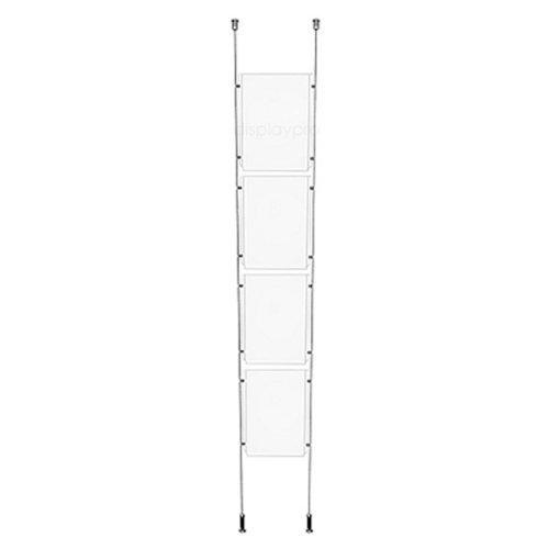 Displaypro–Marcos 1x 4A4Cable de suelo a techo sistema