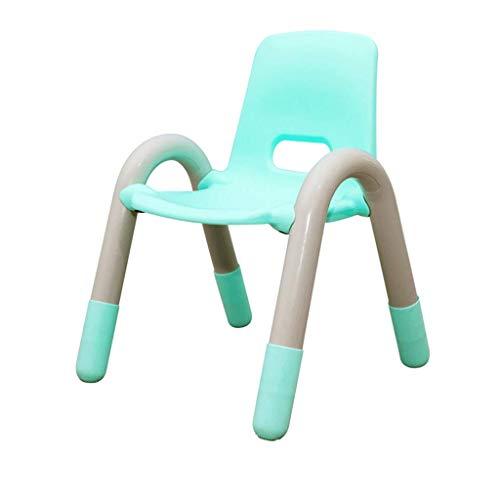 ckenlehne Wohnzimmer Stuhl Kunststoff Baby Lernen Malerei Anti-Roll-Tische und Stühle können gestapelt Werden und einfach zu speichern (Farbe : Green, größe : 42x42x56cm) ()