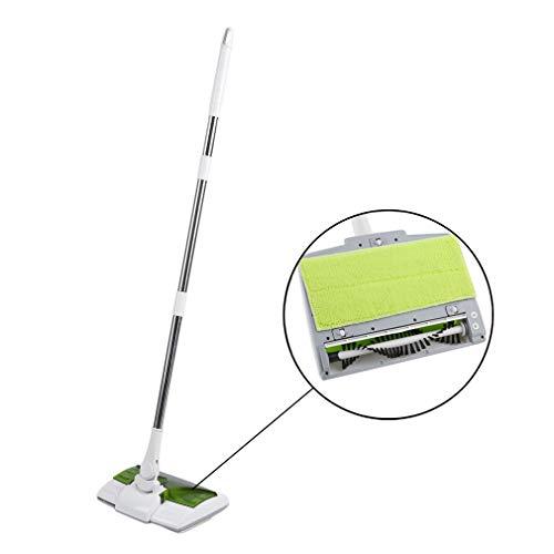 Homgrace 2 IN 1 Akkubesen & Wischmopp Elektrische Besen Swivel Sweeper Akku Kehrbesen Aufladbar Kabellos Kehrer Mopp mit 360° Bürstensystem