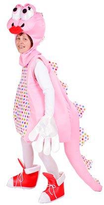 Süßes Dinosaurier Kostüm für Damen Rosa - Lustiges Saurier Kostüm für Karneval oder Mottoparty (Feuerstein Kostüm Paar)