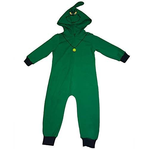 Kostüm Figur Grinch - KN Halloween Kind Mädchen Jungen Die Grinch Overalls Grün