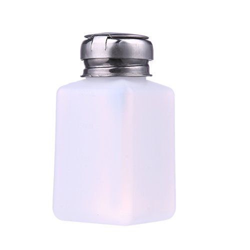 Rrimin Practical Empty Makeup Nail Polish Remover Container Holder Box Bottle White