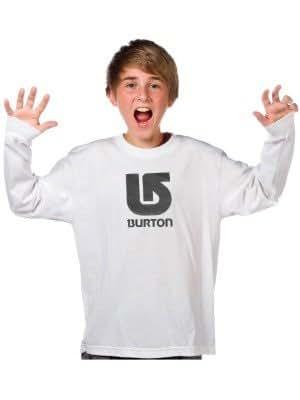 Kinder Longsleeve Burton Logo Vertical Tee LS yth