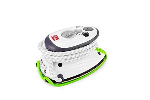 Prym Dampfbügeleisen Mini inkl. BabySnap Reisebügeleisen-Ablage (hellgrün)