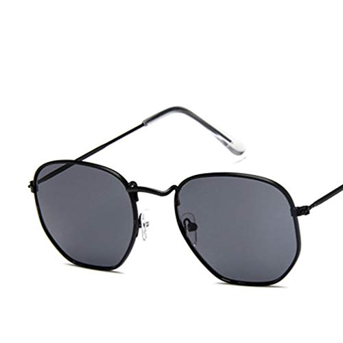 YWYU 2019 Neue europäische und amerikanische Stil kleine quadratische Sonnenbrille Wilde straße schießen Bunte Sonnenbrille männer und Frauen Retro Sonnenbrille Trend Brille (Farbe : A)