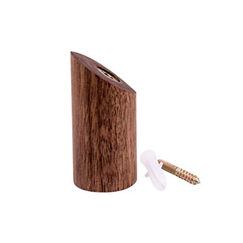 YeahiBaby 1 Stück Zylinder aus Holz Haken montiert an der Wand Schal Handtuch Hut Tasche Haken für Bad Schlafzimmer 6 cm (Schwarz) - Hut Wand Haken