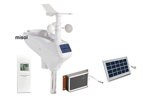 MISOL Professional weather station WCDMA/GSM, data upload to wunderground, SMS message/Estación meteorológica...