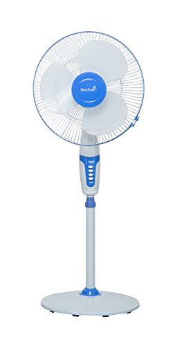 Nexstar Plastic Pedestal Fan (White and Blue)  available at amazon for Rs.1799