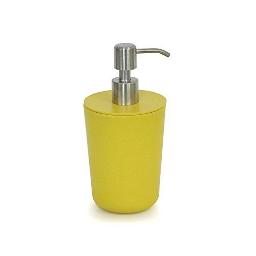 Ekobo Dispensador de Jabón Líquido, Bambú, Lemon, 8,5 x 8,5 x 17,5 cm