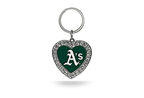 MLB Oakland Athletics Rhinestone Heart