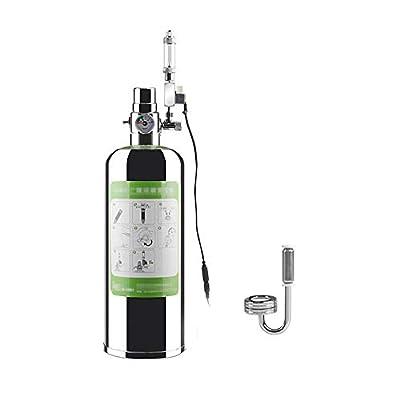 Decdeal 1/2 L Kit générateur de CO2 pour Aquarium, Système générateur de CO2 avec atomiseur électrovanne Kit de réacteur à dioxyde de Carbone pour installations d'aquarium